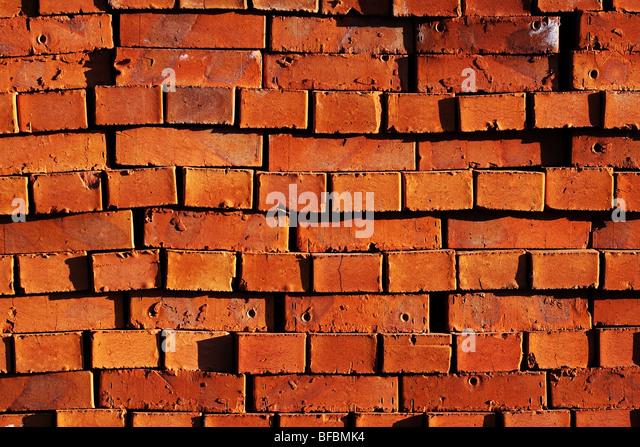 Red bricks background. - Stock Image