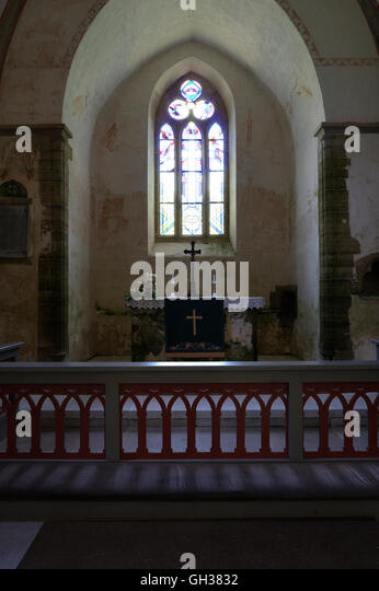 St.Katherines`s Lutheran Medieval Church On The Island Of Muhu. Estonia - Stock Image