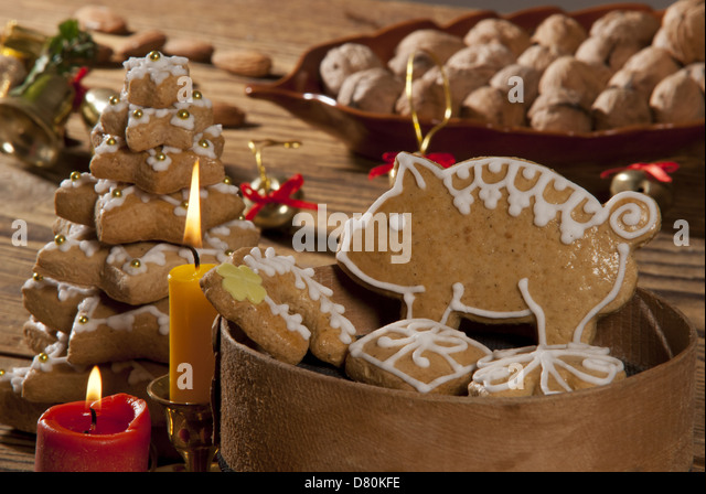 gingerbread christmas decorations stock photos. Black Bedroom Furniture Sets. Home Design Ideas