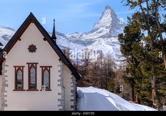Riffelalp, Riffelberg, Matterhorn, Zermatt, Gornergrat, Valais, Switzerland, Europe - Stock-Bilder