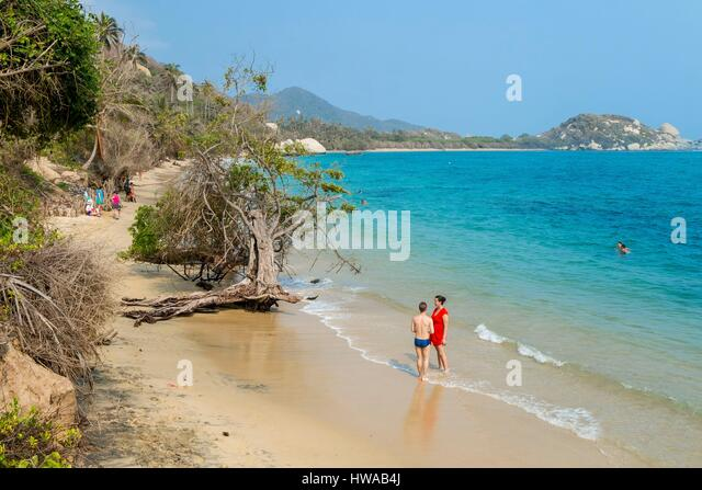 Colombia beach woman stock photos colombia beach woman for La piscina 1969