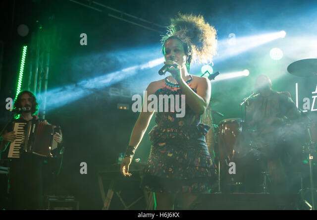 Madrid, Spain. 28th October, 2016. Argentinian songwriter and singer La Yegros performed at Sala But in Madrid in - Stock Image
