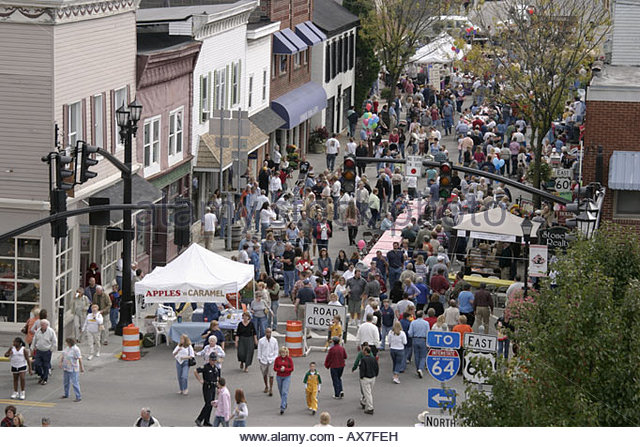 West Virginia Lewisburg Taste of Our Towns - Stock Image