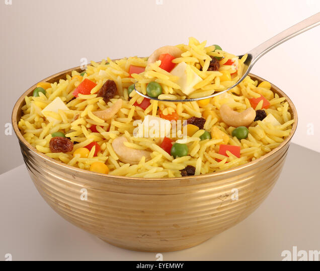 INDIAN BIRYANI VEGETARIAN RICE - Stock Image