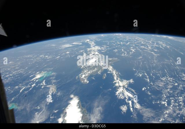 Saharan Dust Reaches the Americas (NASA, International Space Station, 07/15/12) - Stock Image