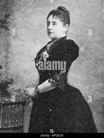 Pauline Lucc, 1841 - 1908, was a prominent operatic soprano, reproduction photo from the year 1895, digital improved - Stock Image