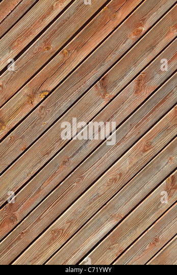 Wooden boards on a wall - Stock-Bilder