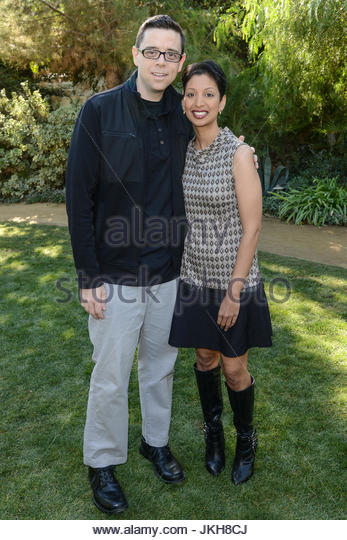 Aaron Gaudet and Gita Pullapilly. Arrivals for the Palm Springs International Film Festival's Variety's - Stock Image