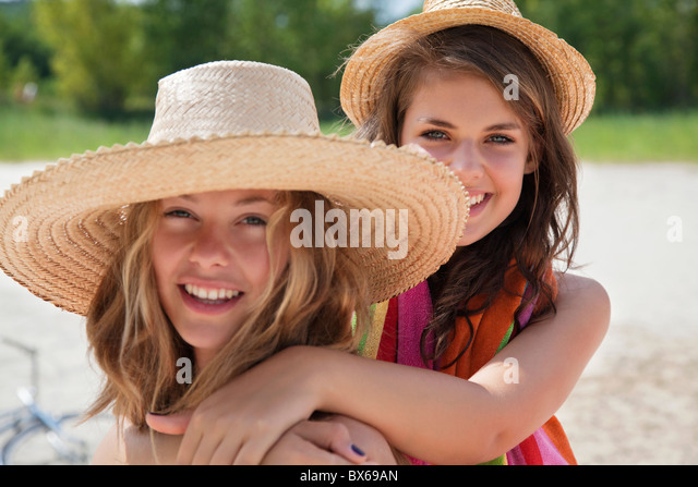Pretty women together in the sunshine - Stock Image