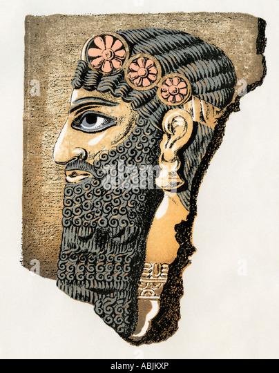 Assyrian bas relief stock photos