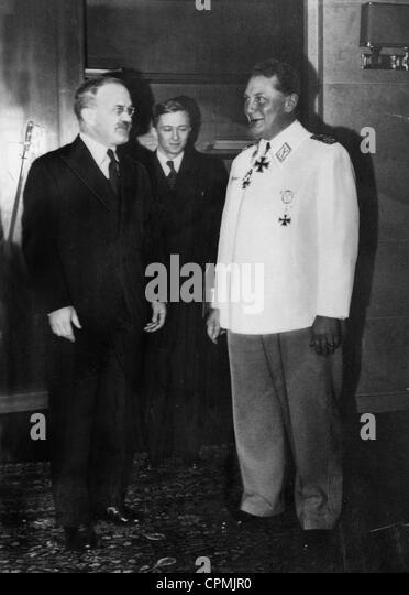 Vyacheslav Molotov and Hermann Goering, 1940 - Stock Image