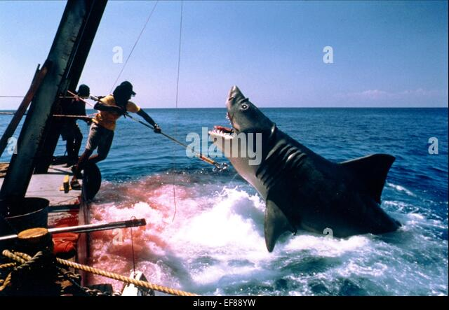 SHARK ATTACK JAWS (1975) - Stock Image