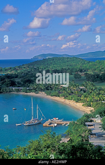 Caneel Bay Resort Beach St John US Virgin Islands - Stock Image