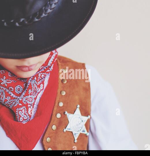 Close-Up Of Cowboy - Stock Image