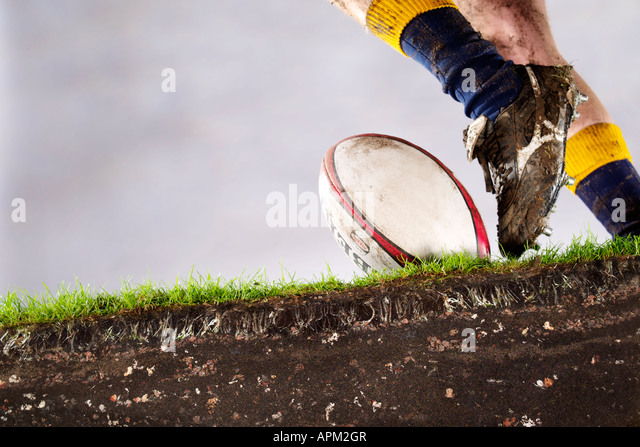Rugby Kick - Stock Image