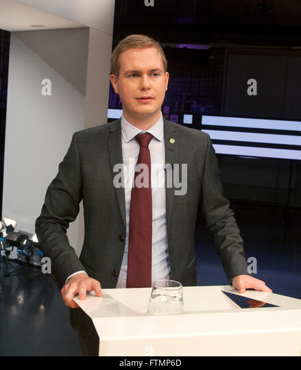 GUSTAV FRIDOLIN spokesperson for the Green Party and Minister for Education - Stock Image