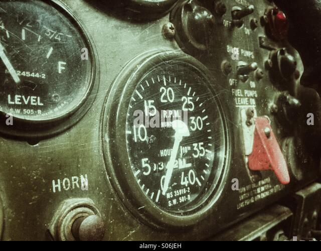 Dials and gauges - Stock Image
