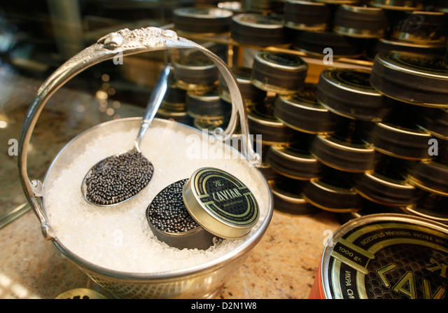 Russian caviar, St. Petersburg, Russia, Europe - Stock Image