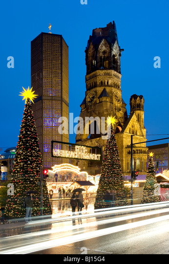 Christmas Markets Kurfurstendamm Berlin Germany - Stock Image