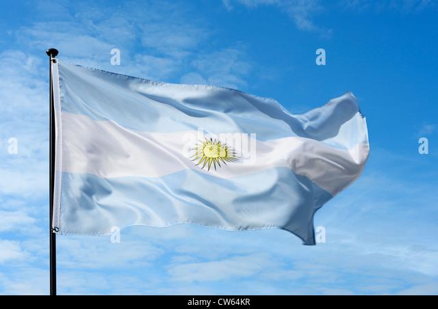 Argentina flag - Stock Image