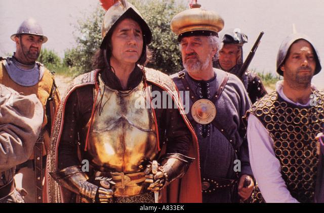 CARRY ON COLUMBUS - 1992 Island World film with Jim Dale as Columbus and Bernard Cribbins as Mordecai Mendosa - Stock-Bilder