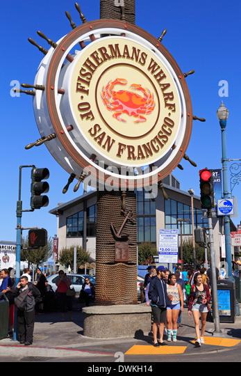 Fisherman's Wharf, San Francisco, California, United States of America, North America - Stock Image