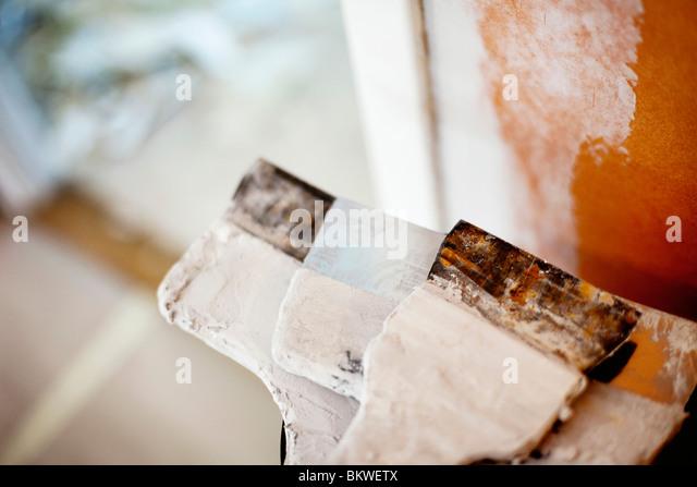 Closeup on spatulas - Stock Image