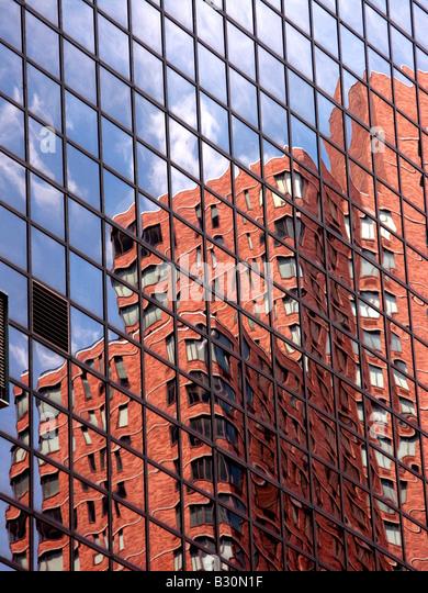 Building skyscraper New York sky scraper vertical - Stock-Bilder