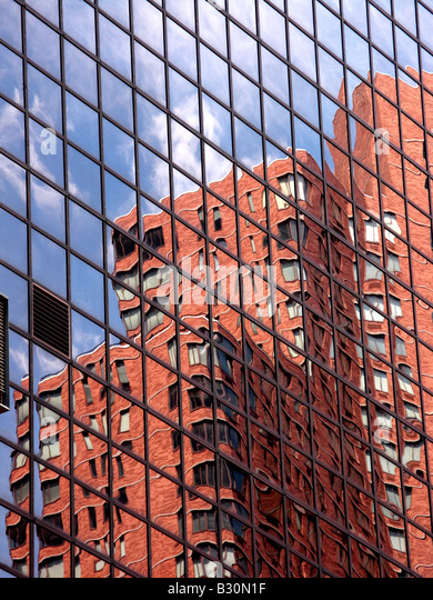 Building skyscraper New York sky scraper vertical - Stock Image