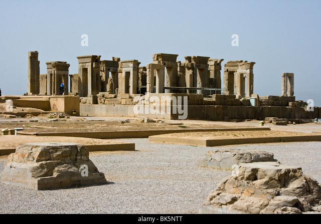 Palace of Darius in Persepolis, Iran - Stock Image