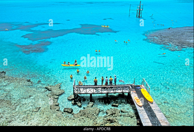 Mexico Isla Mujeres Garrafon natural reef Park Garrafon ecological park near Cancun - Stock Image