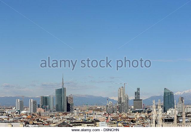 skyline,milan,lombardia,italy - Stock Image