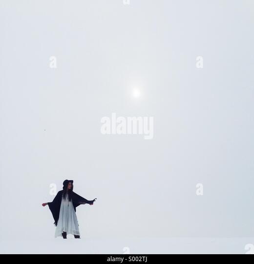 Winter minimalism - Stock Image