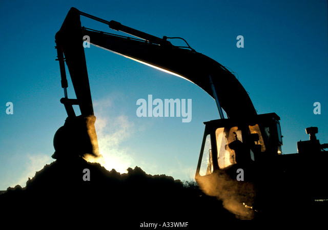 Backhoe earth moving equipment 8CA - Stock Image