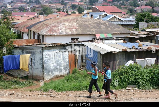 huts in Township Soweto, Johannesburg, South Africa - Stock-Bilder
