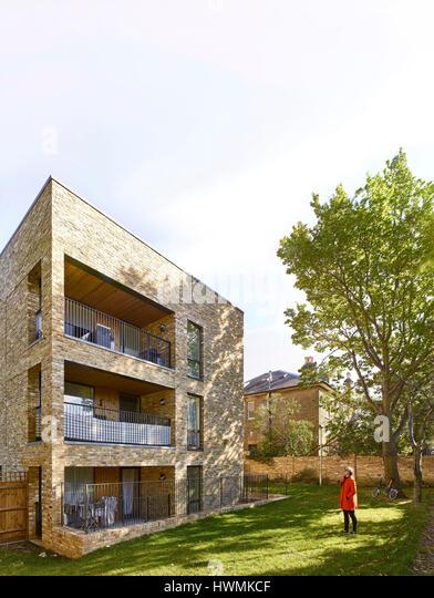Rear elevation. Florence Road, London, United Kingdom. Architect: Bell Phillips Architects, 2016. - Stock-Bilder