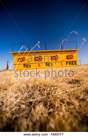 Dynamite stand - Stock Image