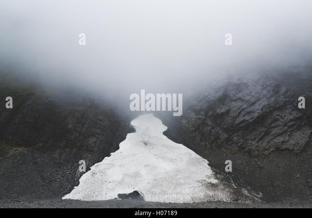 Big Four Ice Caves near Seattle, Washington - Stock Image