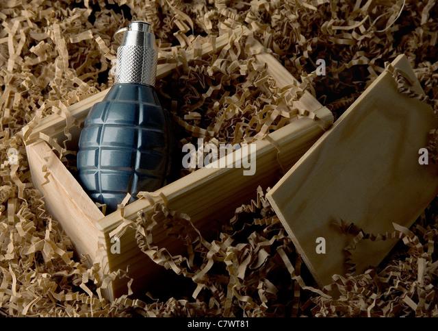 Grenade in packaging. - Stock Image