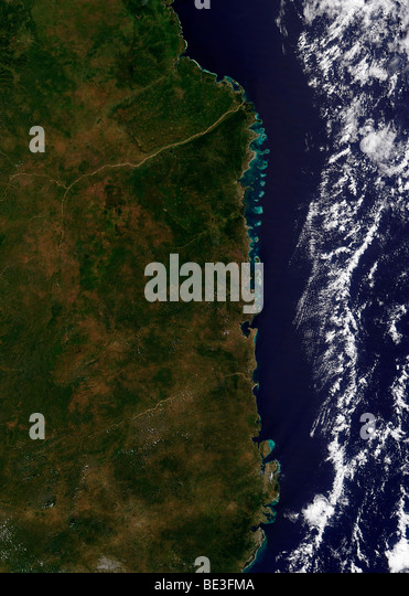 May 15, 2009 - The Mozambique coast. - Stock Image