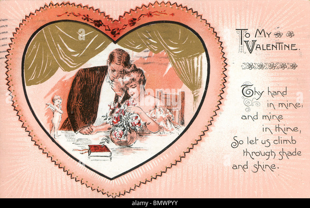 Valentine's Day Card - To My Valentine - Stock Image