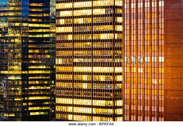 Skyscrapers in Midtown Manhattan, New York City - Stock Image