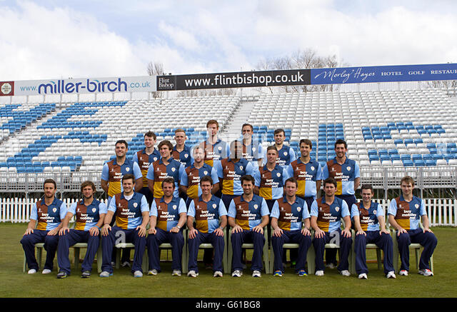 Cricket - Derbyshire CCC 2013 Photocall - County Ground - Stock Image