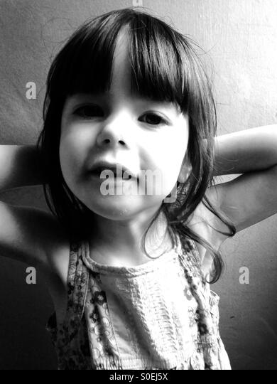 3-year old girl - Stock Image