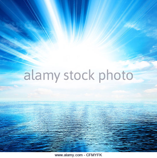 bright sea view - Stock Image