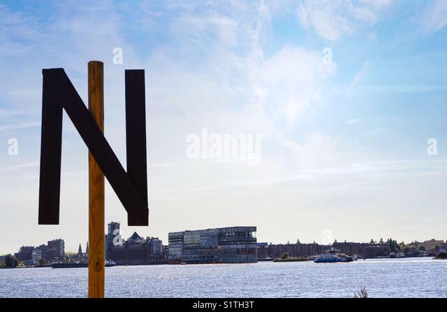"""""""N"""" stands for the North or for Netherlands?? Not so sure about this as this photo was captured at the North of - Stock Image"""