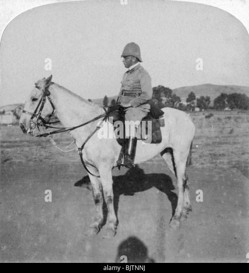 Major-General John French, the intrepid cavalry leader, Pretoria, South Africa, Boer War, 1901. - Stock Image