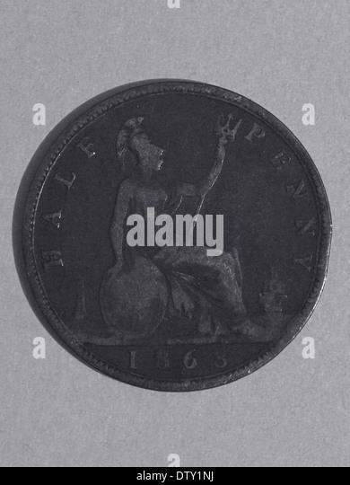 Australian half-penny 1868 - Stock Image