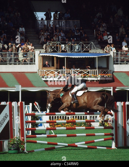 Rds Show Jumping, Dublin, County Dublin, Ireland - Stock Image