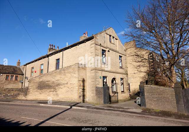 The former Law Hill School (where Emily Brontë taught), Southowram, West Yorkshire - Stock Image